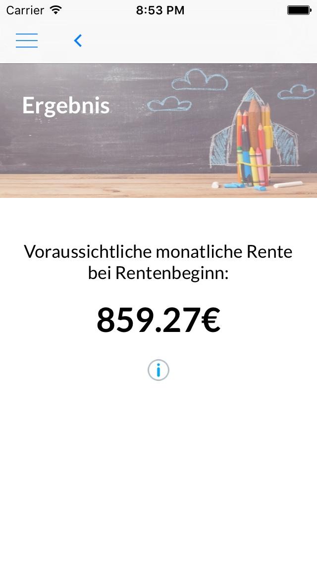 Rentenberechnung – iOS
