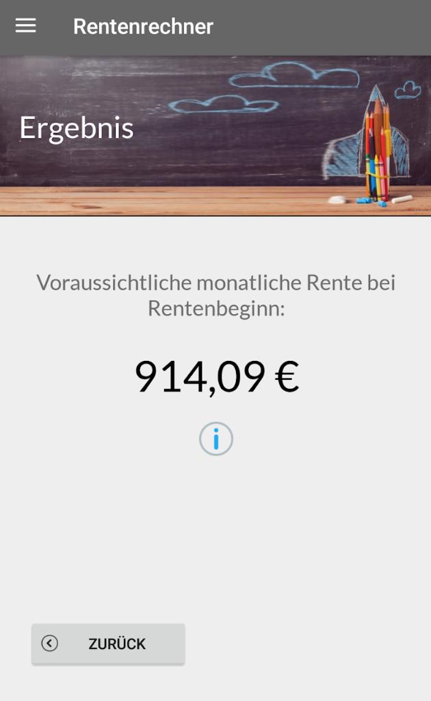 Rentenberechnung – Android